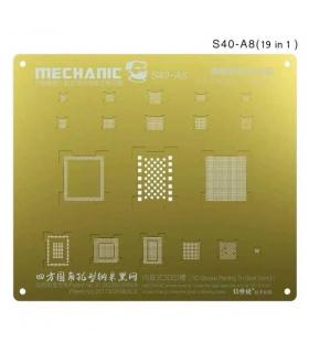 شابلون سه بعدی طلایی آیفون 6-6پلاس مکانیک MECHANIC S40-A8
