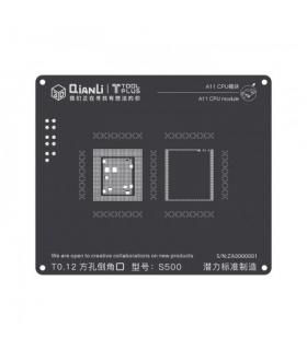شابلون سی پی یو آیفون QiAnLi A11 CPU S500