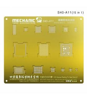 شابلون سه بعدی طلایی آیفون مکانیک MECHANIC S40-A11