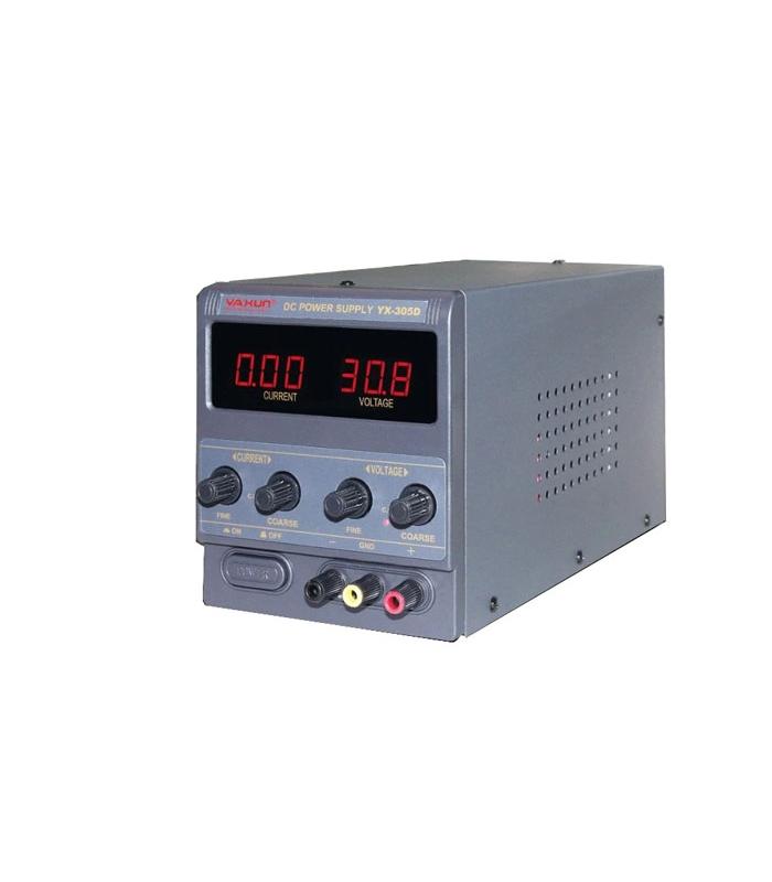 منبع تغذیه 30 ولت و 5 آمپر یاکسون YAXUN YX-305D