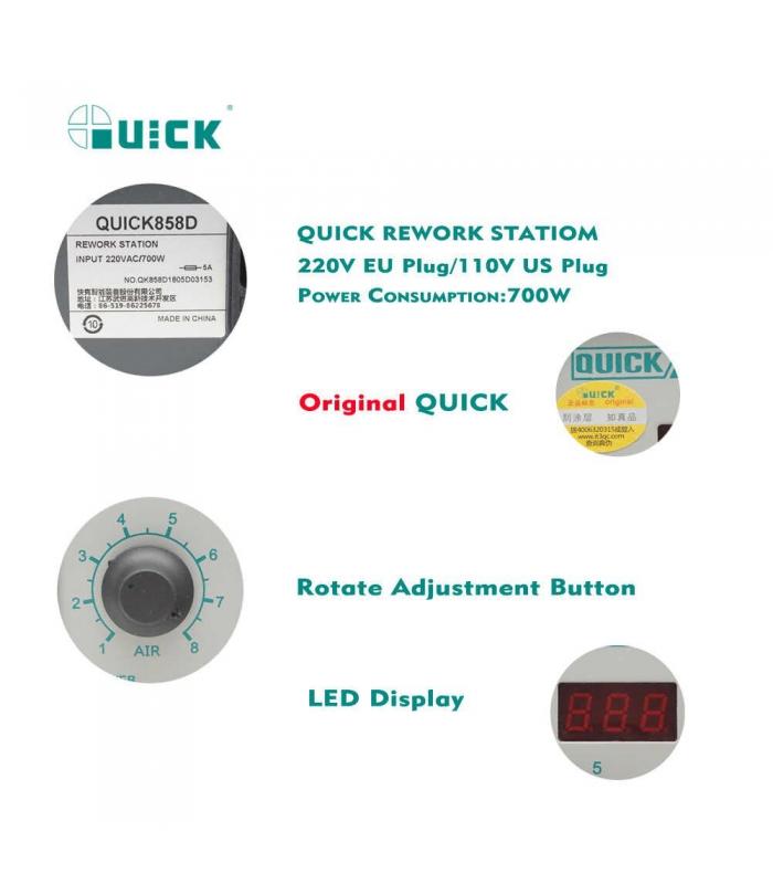 هیتر تک کاره کوییک QUICK 858D