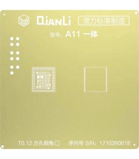 شابلون 3d سی پی یو آیفون A11 برند Qianli