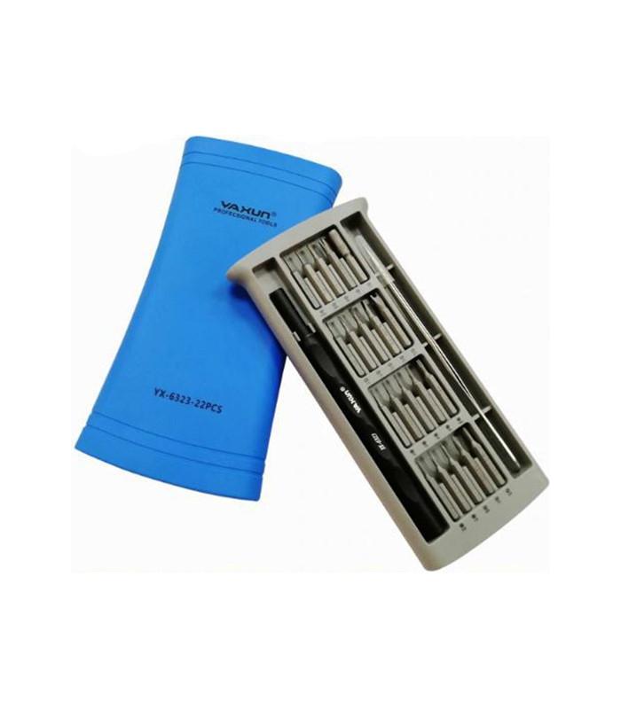 ست پیچ گوشتی 22 تکه تعمیرات موبایل یاکسون مدل YAXUN YX-6323