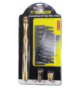 ست تیغ حرفه ای تعویض آی سی 43 تکه تعمیرات موبایل یوکیلون مدل Youkiloon