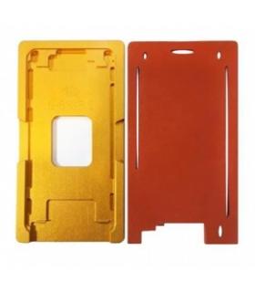 شابلون فلزی و پد سیکونی تعویض گلس آیفون مدل Iphone 6,6S
